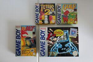 Original Nintendo Game Boy DMG-01 - Grey boxed with 5 games