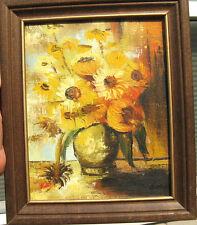 Original Still Life Painting Oil on Canvas Artist Signature in Nice Wood Frame
