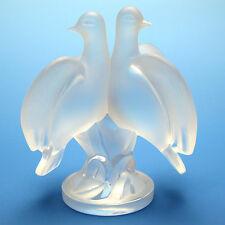 Lalique Ariane Doves Frosted Crystal Signed Lalique France Figurine/Sculpture