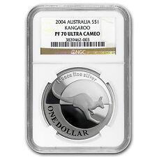 2004 Australia 1 oz Proof Silver Kangaroo PF-70 NGC