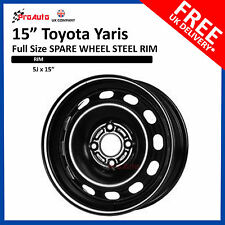 "TOYOTA YARIS 2011-2018 15"" FULL SIZE STEEL SPARE WHEEL STEEL RIM"