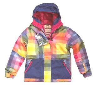 NEU BILLABONG SALLY Snowboardjacke Skijacke Jacke 10.000 WS kariert 14 158 164