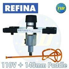 REFINA MEGAmixer MM22 Plaster Mortar & Epoxy 2 Speed 1150W H Handle Mixer 110V