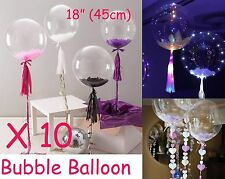 "Bubble Transparent Clear Round Balloon (x 10) Large 18"" 45cm Wedding Decoration"