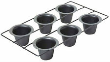 Chicago Metallic Non Stick Six Hole Popover / Muffin Pan Baking Tray 40cm x 25cm