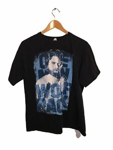 One Man Wolf Pack T-Shirt Mens Large Cotton Crew Neck Short Sleeve