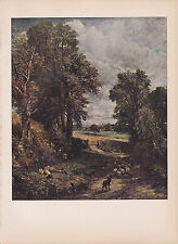 "1939 Vintage ""THE CORNFIELD"" by JOHN CONSTABLE LOVELY Color Art Plate Lithograph"