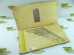 """13PC SET OF HSS CHUCKING REAMERS L&I .0394"""" TO .2756""""+ CASE"""