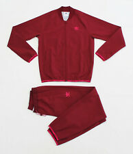NWT ADIDAS Men's Winterized Burgundy Track Suit Set Top Jacket & Pants Joggers