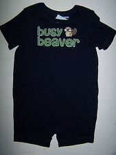 NWT GYMBOREE Smart Little Guy BUSY BEAVER with TAIL SHORTALL ROMPER 6-12 M0