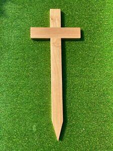 Handmade Solid Oak Memorial Cross | Grave Marker | Wooden Grave Cross | Hardwood