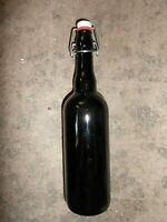 Beer bottle with stone stopper