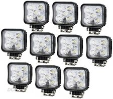 10 x WORK LAMP LIGHT FLOOD BEAM LED COMPACT SUPER BRIGHT  SQUARE 10-36V 1000 LM