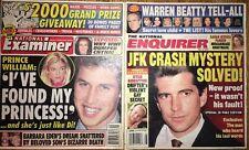 Enquirer Examiner 2001-02 JFK Jr Warren Baby Prince William Billy Bob