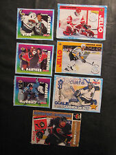 Jell-O Hockey Cut out cards lot of 7 - 1995-99 Selanne, Joseph, Jagr, Daigle