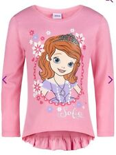 Sofia The First Cute Pink Long sleeve Top With Frilly Back Age 7-8 Yrs Bnwt