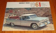 Original 1961 Chevrolet Pickup Chassis-Cab & Stake Sales Brochure Chevy C10 20