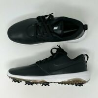 Nike Roshe G Tour Golf Shoes Mens Black White Hit Leather AR5580-001 New