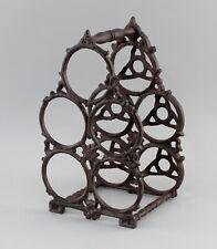9977574 Iron Wine Rack Metal Rustic Vintage H34cm for 5 Bottles