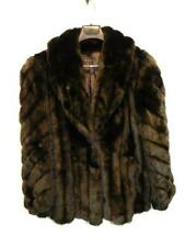 Vintage 80s Xl Dark Brown Faux Fur Coat Shawl Collar Glam Evening Wear Party