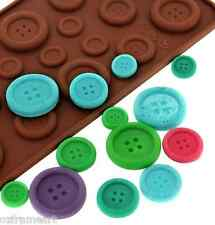 CHOCOLATE BUTTON SHAPE MOULD MOLD SILICONE CAKE DECORATING JELLY ICE CUBE 19 PCS
