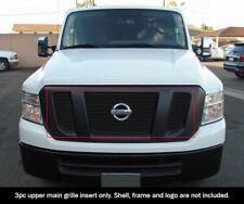 Fits 2012-2019 NISSAN NV 2500/3500 Upper Aluminum Black Billet grille insert