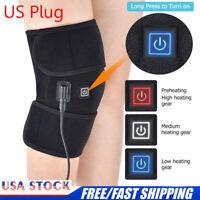 Knee Heating Pad Thermal Heated Therapy Wrap Support Brace Arthritis Pain Relief