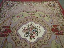 Elegant European style needlepoint carpet ( 10ft. x 8ft )
