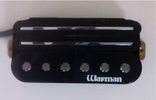 Warman Black G-rail triple coil pickup, simplied 4 wire output version