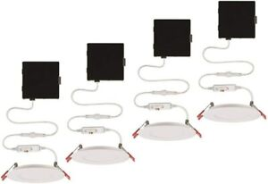 Ultra Slim 4 in. Color Selectable New Construction and Remodel Canless Recessed
