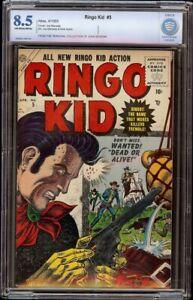 Ringo Kid # 5 CBCS 8.5 OW/W (Atlas, 1955) John Severin collection