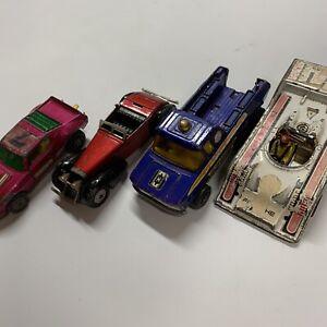 VINTAGE 1972-1975 Matchbox And Corgi Toys Cars Made In England Honda Porsche