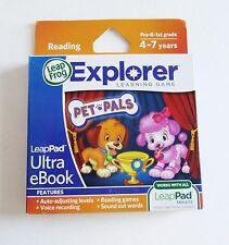 LeapFrog Explorer Ultra eBook Reading PET PALS Learning Game K-1st 4-7 yrs