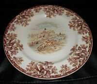 Vintage Copeland Spode Gone Away Hunting Pattern Pottery Dinner Plate