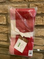 Pottery Barn Red and White BUFFALO CHECK Dinner Napkins Set Of 4 NEW