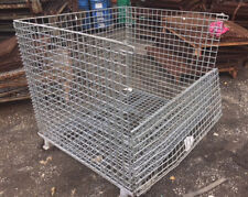 """40"""" x 48"""" x 36"""" Non-Collapsible Rigid Wire Basket"""