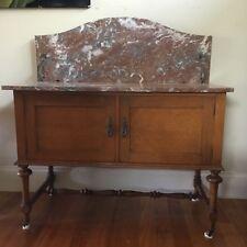 Antique vintage marble top cabinet cupboard