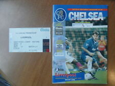 Liverpool Away Team Football Programmes with Match Ticket