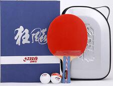 DHS Hurricane #2 No.2 Table Tennis Paddle/Bat, PingPong Racket, NEW