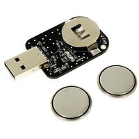 3.6V LiR2032 Rechargeable Coin Button Cell Battery Li-ion (CR2032) + USB CHARGER