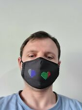 LED Programmable Message Display Comfortable Mask App Controlled+filter pocket