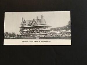 ST LOUIS Photo Horse Racing 1904 World'S Fair Handicap
