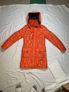 Volcom Womens 3/4 Length Puffy Snowboard Jacket Small Orange