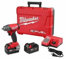 "Milwaukee 2754-22 M18 FUEL 3/8"" Impact Wrench Friction Ring Kit 5.0 Batteries"