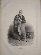 GRANDE Litho 46x29cm Portrait CASIMIR PERIER PRESIDENT du CONSEIL 1830 GRENOBLE