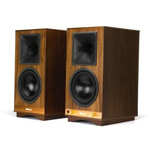 Klipsch The Sixes WALNUT Powered  Bookshelf Speakers (1pr) B Stock