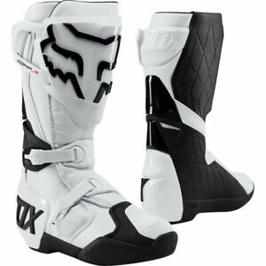 Fox Racing Comp R Motocross Boots - White/Black All Sizes