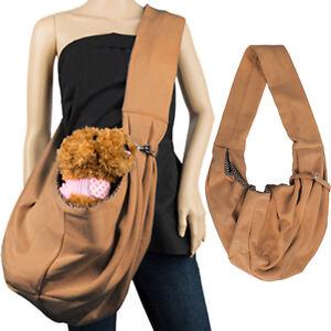 Brown Pet Dog Cat Puppy Carrier Comfort Travel Tote Shoulder Bag Sling Backpack
