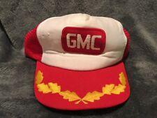Vintage GMC Trucks Red Trucker Hat Mesh SnapBack Cap Captain