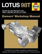 Lotus 98T: Includes all Lotus-Renault F1 cars, 1983 to 1986 (93T, 94T, 95T, 97T